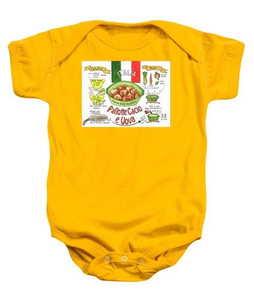 Pallotte Cacio Baby Onesie