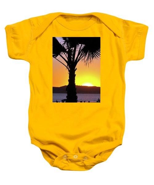 Palm At Sunset Baby Onesie