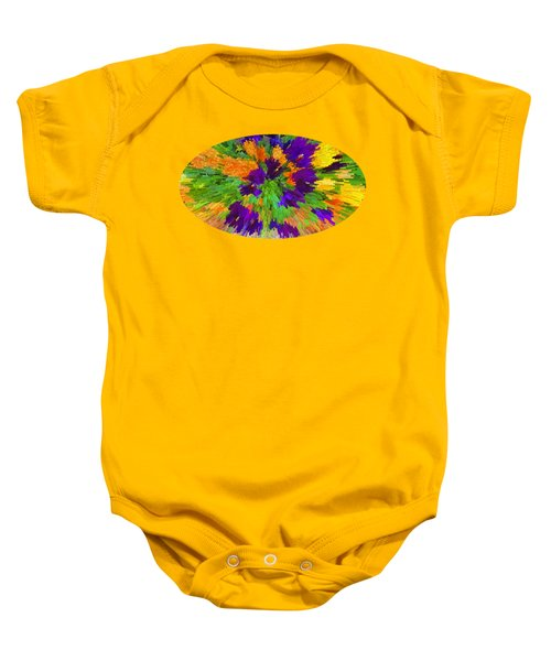 Pansies Abstract Baby Onesie