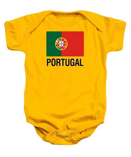 Parchment Flag Portugal Baby Onesie
