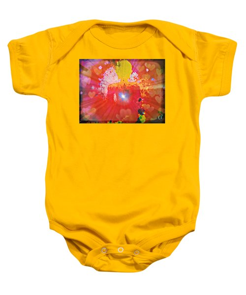 Peace And Love Meditation Baby Onesie