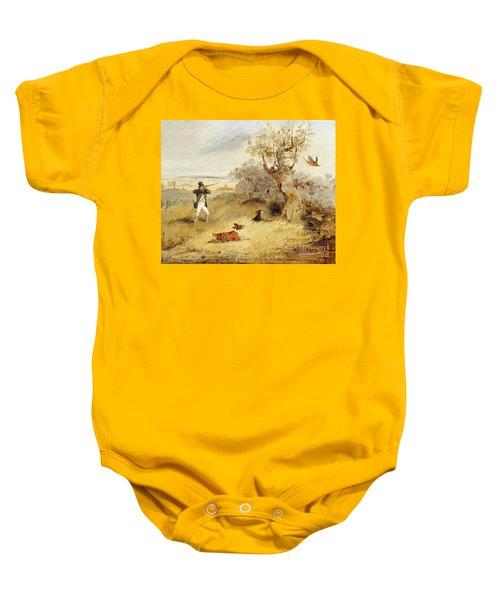 Pheasant Shooting Baby Onesie by Henry Thomas Alken