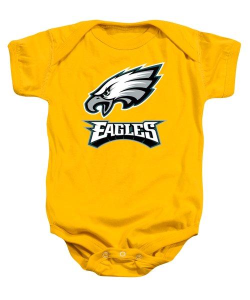 Philadelphia Eagles On An Abraded Steel Texture Baby Onesie