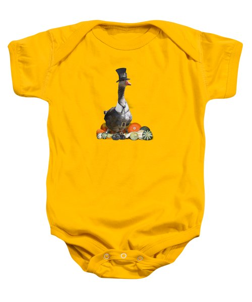 Pilgrim Goose Baby Onesie by Gravityx9 Designs