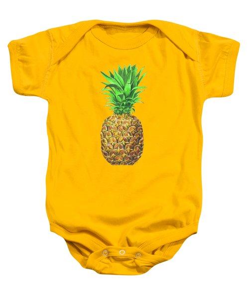 Pineapple, Tropical Fruit Baby Onesie