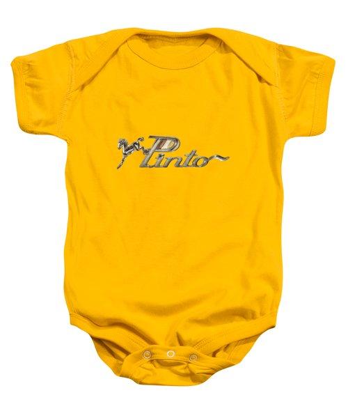 Pinto Car Badge Baby Onesie