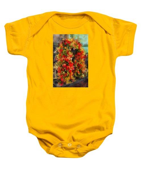 Pi's Flowers 2 Baby Onesie