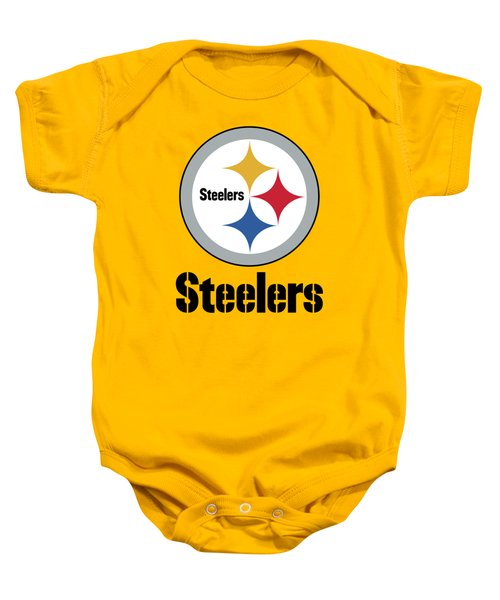 Pittsburgh Steelers On An Abraded Steel Texture Baby Onesie