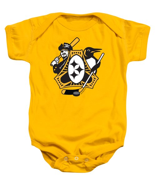 Pittsburgh-three Rivers Roar Sports Fan Crest Baby Onesie