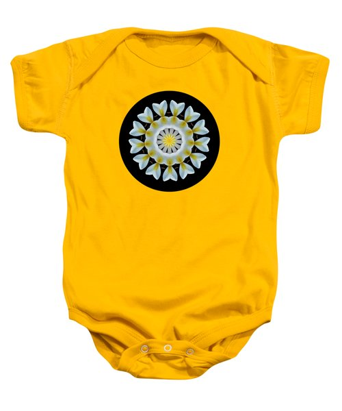 Plumeria Mandala By Kaye Menner Baby Onesie