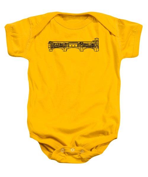 Ponte Vecchio Florence Tee Baby Onesie by Edward Fielding