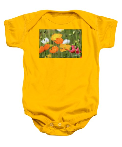 Baby Onesie featuring the photograph  Poppies 1 by Werner Padarin