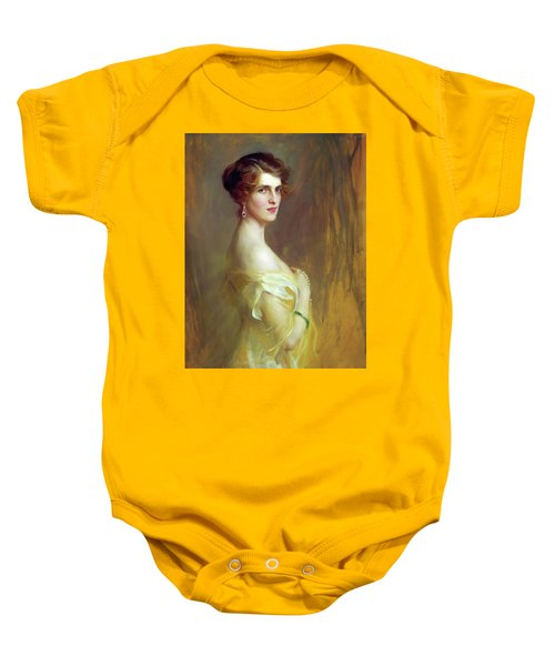 Portrait Of A Lady In Yellow Baby Onesie
