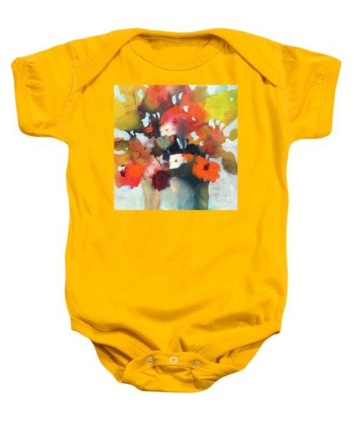 Pot Of Flowers Baby Onesie