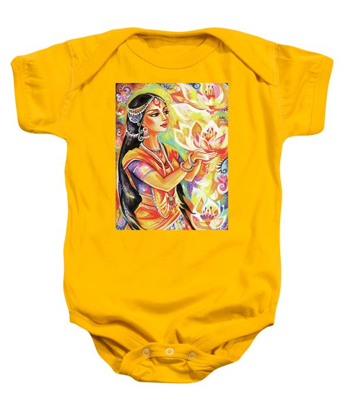 Pray Of The Lotus River Baby Onesie by Eva Campbell