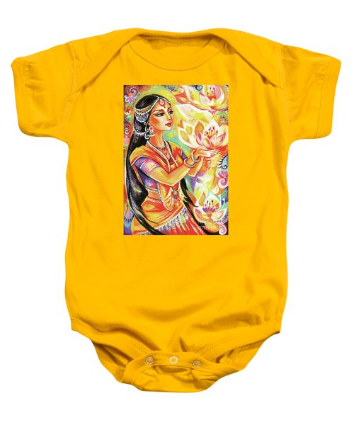 Pray Of The Lotus River Baby Onesie