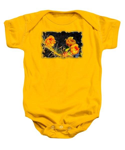 Prickly Pear Flowers Op49 Baby Onesie by Mark Myhaver