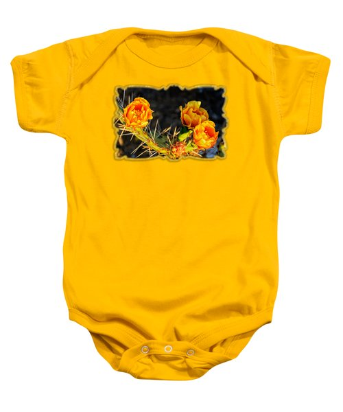 Prickly Pear Flowers Op49 Baby Onesie