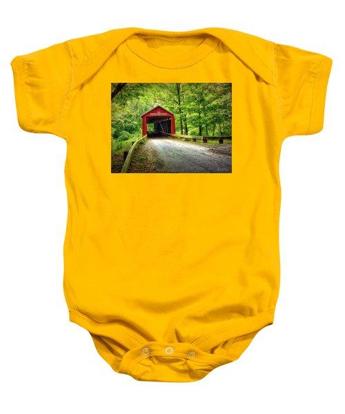 Protected Crossing In Summer Baby Onesie