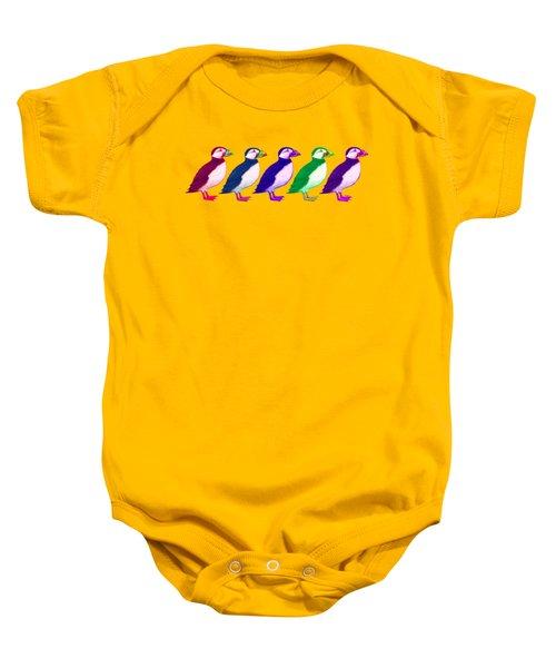 Puffins Apparel Design Baby Onesie by Teresa Ascone