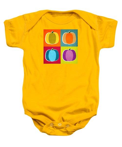 Pumpkins- Pop Art By Linda Woods Baby Onesie