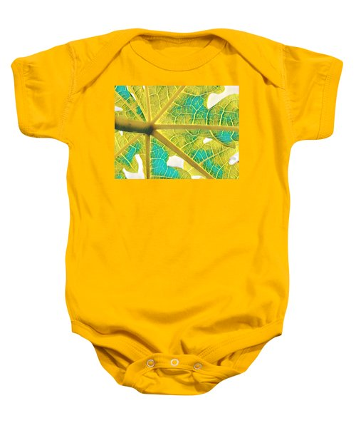 Puna Papaya Leaf Baby Onesie