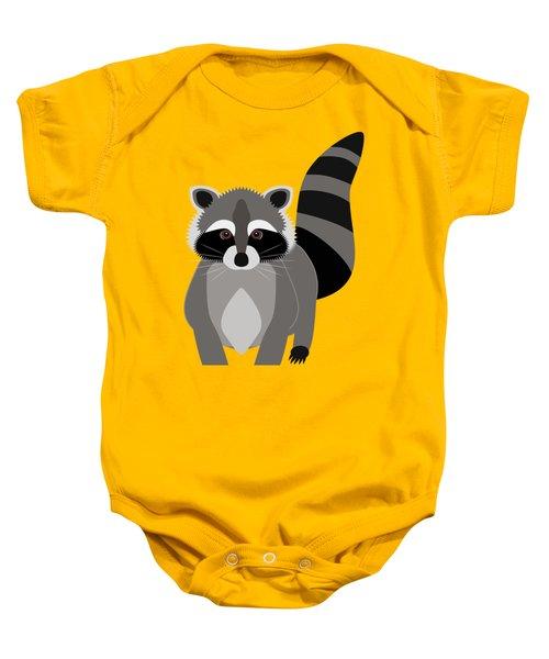 Raccoon Mischief Baby Onesie by Antique Images