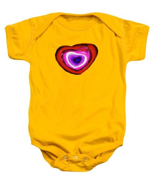 Rainbow Heart Baby Onesie