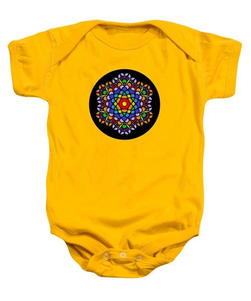 Rainbow Mandala By Kaye Menner Baby Onesie