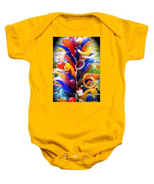 Rainbow Spirals Baby Onesie