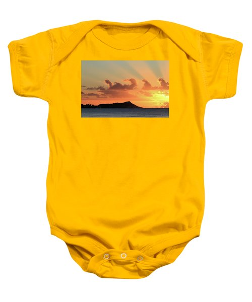Rays Over Diamond Head Baby Onesie