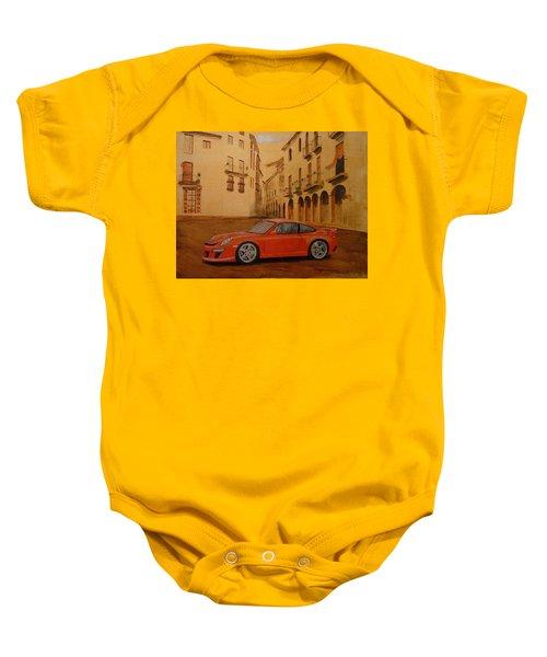Red Gt3 Porsche Baby Onesie