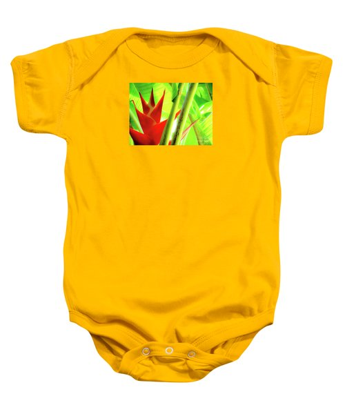 Red Heliconia Baby Onesie