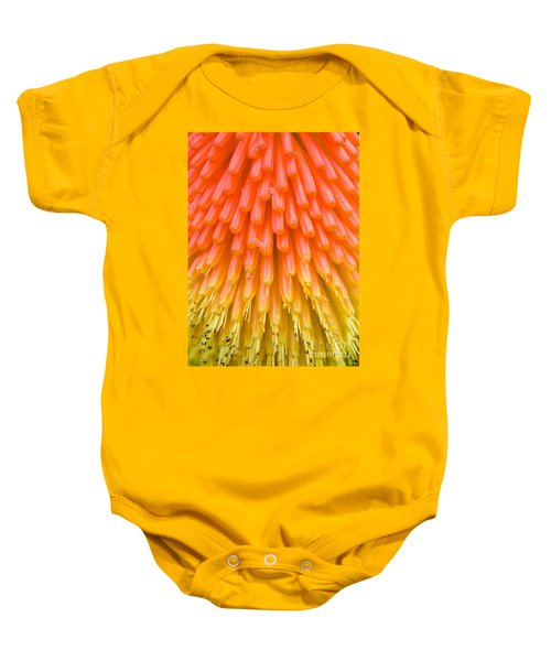 Red Hot Poker Flower Close Up Baby Onesie