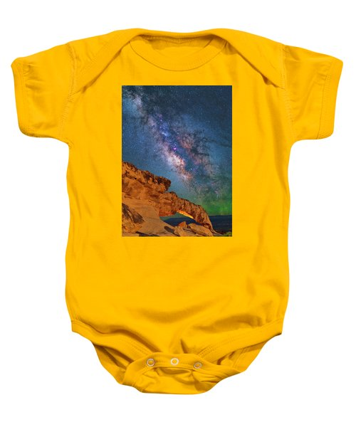 Riding Over The Arch Baby Onesie