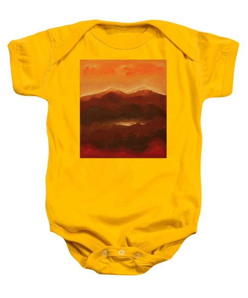 River Mountain View Baby Onesie