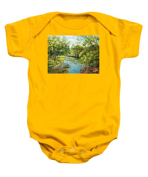 River Through The Forest Baby Onesie