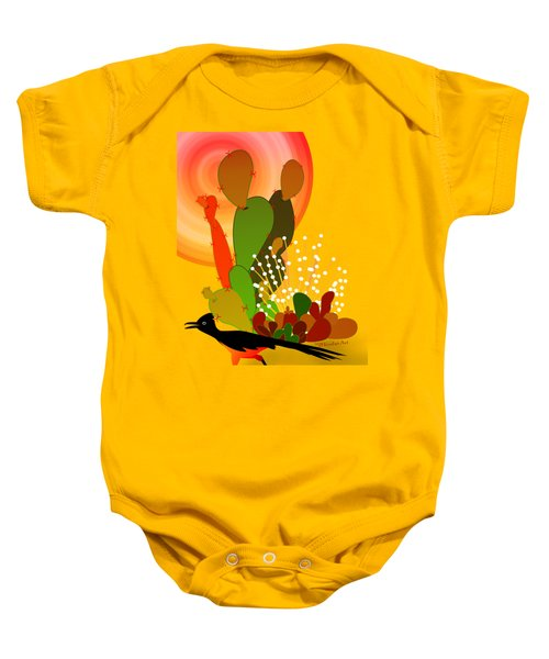 Roadrunner Sunrise Baby Onesie by Methune Hively
