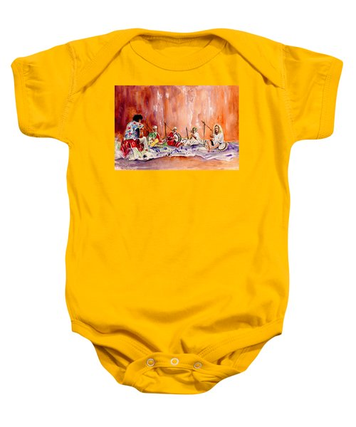 Robert Plant And Jimmy Page In Morocco Baby Onesie