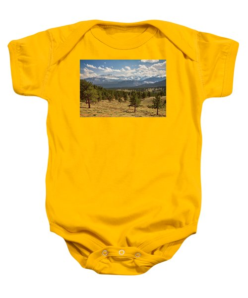 Baby Onesie featuring the photograph Rocky Mountain Afternoon High by James BO Insogna