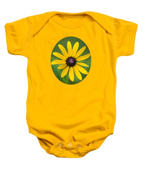 Rudbeckia Flower Baby Onesie by Christina Rollo