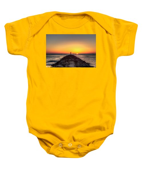 Rudee Inlet Jetty Baby Onesie