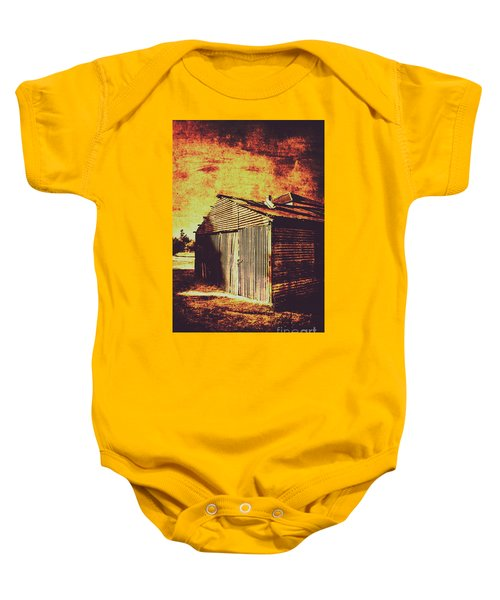 Rusty Outback Australia Shed Baby Onesie