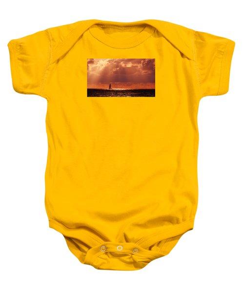 Sailboat Sun Rays Baby Onesie