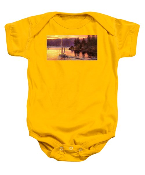 Sailing On The Sound Baby Onesie