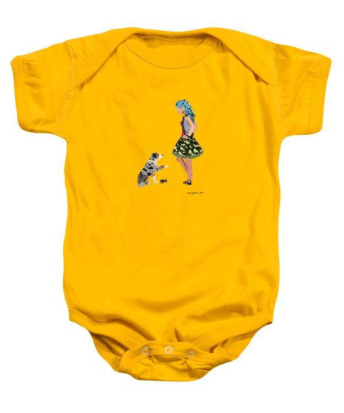 Baby Onesie featuring the digital art Samantha by Nancy Levan