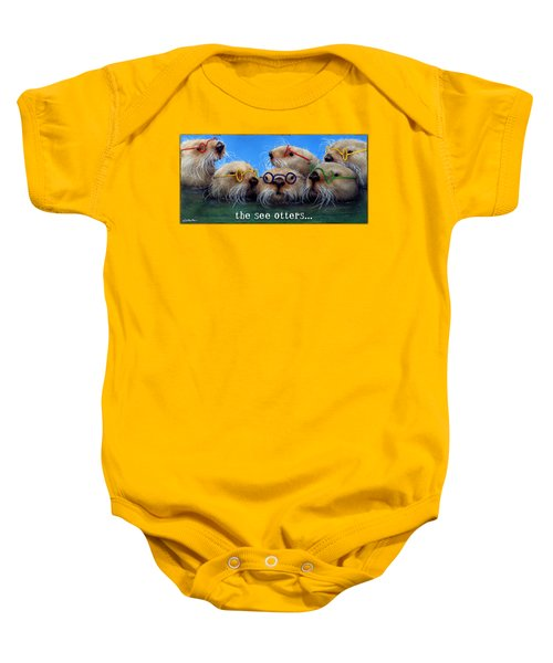 See Otters... Baby Onesie by Will Bullas