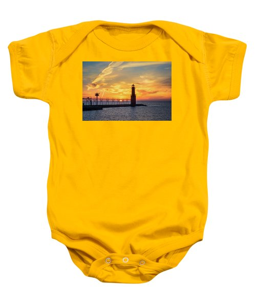 Baby Onesie featuring the photograph Serious Sunrise by Bill Pevlor