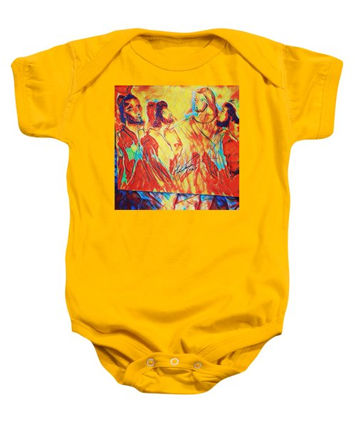 Shadrach, Meshach And Abednego In The Fire With Jesus Baby Onesie
