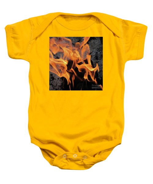 Sitting By The Crackling Fire Baby Onesie